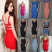 2014 High quality bandage dress evening dress party dress vestidos wholesale free shipping