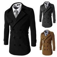 2014 new arrival men's Overcoat  high quality men's trench coat  men's outwear 3 color 4size M-XXL free shipping BF03