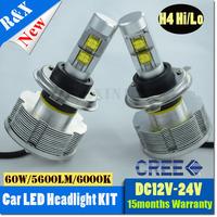 1set 7200LM U.S. 80W cree H4 led headlight lamp Hi/Lo car auto led headlight bulbs HB1 9004 HB5 9007 led headlight bulb