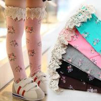 2014 cotton girls time-limited special offer baby socks meia meias infantil floral lace princess korean children