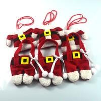 6Pcs/lot Fancy Santa Christmas Decorations Silverware Holders Pockets Dinner Table Decor Free Shipping E017
