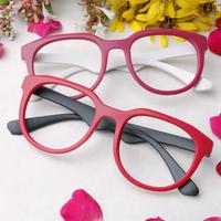 Free Shipping Scrub sheet glasses round eyeglasses frame non-mainstream male Women multicolour lenses eye box 5Pcs/Lot