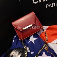 2014 metal chain vintage women's handbag messenger bag shoulder bag fresh mini bags