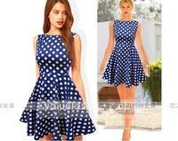 Ebay fashion summer elegant fashion dot expansion bottom slim one-piece dress