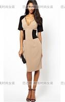 Autumn fashion women's short-sleeve slim one-piece dress ebay