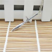 Wholesale 20pcs/lot Hobbit Sword Pendant Necklace Chain Neklcace For Women&Men