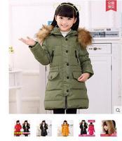 Girls long down jacket The new children's wear down jacket cuhk TongZhengPin coat