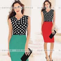 Ebay one-piece dress heap turtleneck sleeveless slim plus size one-piece dress