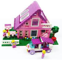 princess castle -style building blocks assembled chalet girls dream villa