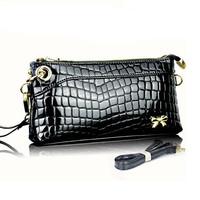 Genuine Leather Crocodile Women Handbag Shoulder Bag Messenger Bag Day Clutch Small Bag Women Clutches With Alligator Embossed