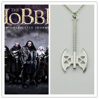 Euro-American High Quality Hobbit Axe Pendant Necklace Men Chain Necklace Wholesale 20pcs/lot