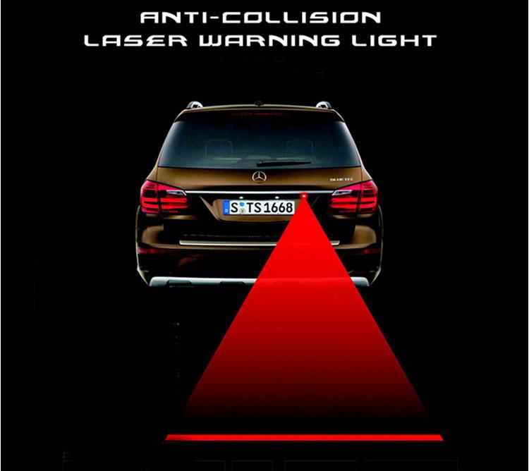 New led anti- collision anti- brouillard. laser, antibrouillard arrière de voiture feux d'avertissement pour avertir des étanche. tous voiture universel et gratuit expédition