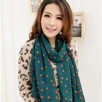 winter scarf women scarves raindrops print bandana shawl printed scarfs print scarves clothing dots headband