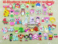 Free shipping -30pcs Mixed 2 Holes pattern cartoons Wood Sewing Buttons Scrapbooking WCF-301-3