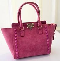 Autumn/winter 2014 new Korean fashion rivet bag nubuck wave packet trade fashion ladies shoulder handbag women bag