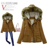 2014 winter wadded jacket women short design parka slim plus size thickening overcoat winter coat women