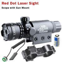 Red dot Laser Sight Scope Tactical Romet Pressure Switch Rail Mount Light Gun Rifle Hunting Torch lamp