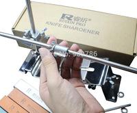 10pcs/lot DHL/FEDEX free shipping full metal Kitchen Knife Sharpener System Fix-angle 4pcs stones