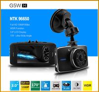 "Novatek 96650 G5WH Car Video Recorder 3.0"" LCD 170 Degree Night Vision G-Sensor Car Camera Recorder Full Hd"