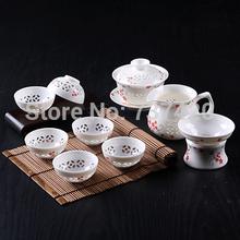 High quality new design crafts free shipping handmade 10pcs set Tea sets tea gift porcelain clear