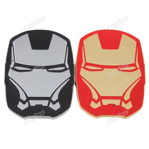 Verydeal most popular Car Auto Alloy 3D Iron Man Shape Badge Emblem Decoration Adhesive Sticker #38 best services(China (Mainland))