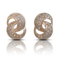 Pure silver 925 pure silver zhaohao stud earring earrings accessories female knot stud earring