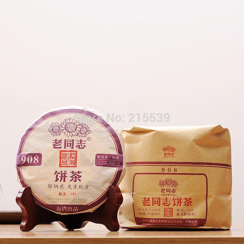 GRANDNESS 200g 5 pcs 2013 yr 908 131 Lao Tong Zhi Puer Tea Yunnan Haiwan