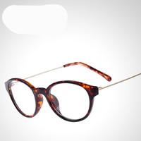 2014 New Retro Brand Designer Women/men Round Metal ultra-light TR90 Eyewear Eyeglasses Spectacles Frame Glasses