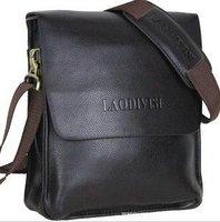 2012 fashion men shoulder bag,men cow leather messenger bag,men business bag,free shipping