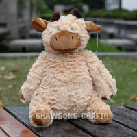 "JELLY CUTE LOUNGING LOVELIES CATTLE PLUSH STUFFED TOYS 10"" COW SOFT DOLL"