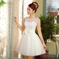 Evening dress 2014 bride evening dress plus size bridesmaid dress short design strap bridesmaid dress
