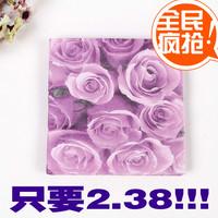 Wedding supplier multicolour table napkin paper handkerchief square towel facial tissue paper print tissue table napkin paper