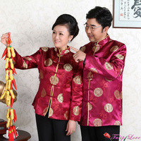 National Style Chinese Couples Jacket,Men Costume For The New Year,Women Silk Tops XXL,Ladies China Plus Size Top XXXL MJ0001A