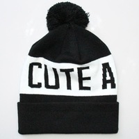 Hot new Knitting ball knitted cap cute as fuck jacquard hip-hop beanie ball Hat