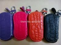 Wholesale 2014 New Arrival Men's Genuine Cowide Leather Purse Car Key Wallets Fashion Women Housekeeper Holders car key holder