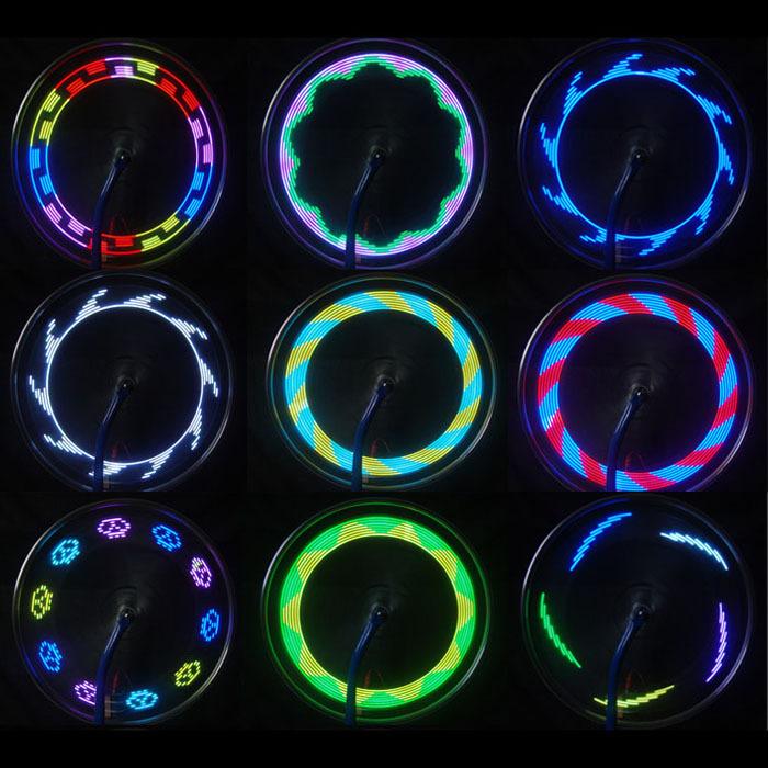 Amazing ! 2014 14 LED Motorcycle Cycling Bicycle Bike Wheel Signal Tire Spoke Light 30 Changes  Hot(China (Mainland))