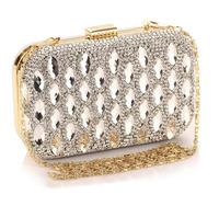 Women's Luxury Clutches Purse Super Flash Rhinestone Banquet Party Mobile Phone Dress Handbag Mini Messenger Bag 2 Colors 6922