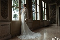 New Design X98802  Best quality Openback beaded lace sleeve V-neck mermaid wedding dress VESTIDO DE NOIVA