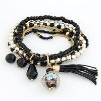 Fashion all-match mixed Bohemia style rice beads Bead Tassel Bracelet