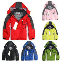 Children's Outdoor Sports Ski Mountaineering Windproof Rain Coats Jackets Warm Two Coats/Boys And Girls Outerwear & Coats