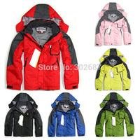 Children's Outdoor Sports Ski Mountaineering Windproof Rain Coats Jackets Warm Two Coats/Boys And Girls Outerwear & Coats