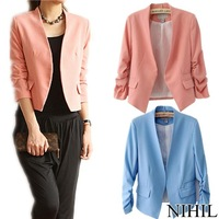 2014 new women blazer suits high street fashion jacket ladies spring clothing tops brand single button cardigan Coat blazers