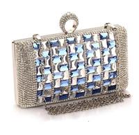 Women's Luxury Clutches Evenning Party Banquet Dinner Rhinestone Handbag Mobile Phone Dress Mini Messenger Bags Lady Purse 2014