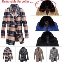 2014 Jack  authentic Brand Cashmere Coat winter wool wool jacket casual fashion man long Fashion warm coat UF102