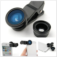 Universal Clip Lens 3 in 1 fisheye-Lens + Wide-Angle & Macro Lens for iPhone HTC SAMSUNG SMART PHONE and etc