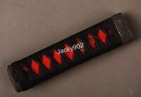 Hand made Tsuka Handle (15cm) for Japanese Tanto Short sword  including alloy Fuchi/ Kashira, Menuki,  rayskin 06
