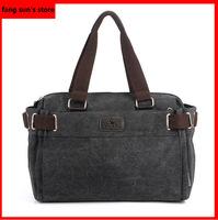 2014 new canvas shoulder bag Mobile Messenger bag Korean version of business casual fashion cross-section men bag