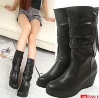 Winter tassel Martin boots autumn and winter boots thick high-heeled platformwomen's wedge heels  short boots