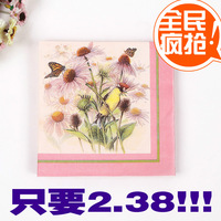 Wedding CHINA ALIBABA table napkin paper handkerchief square towel facial tissue paper print tissue table napkin paper