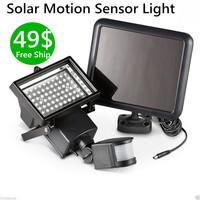 60 LED wall mounted 5W Motion Sensor light Solar outdoor  induction Light garden wall sensor solar lamp solar panel light